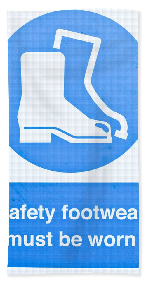 Background Hand Towel featuring the photograph Warning Sign by Tom Gowanlock