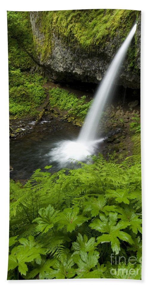 Landscape Hand Towel featuring the photograph Waterfall by John Shaw
