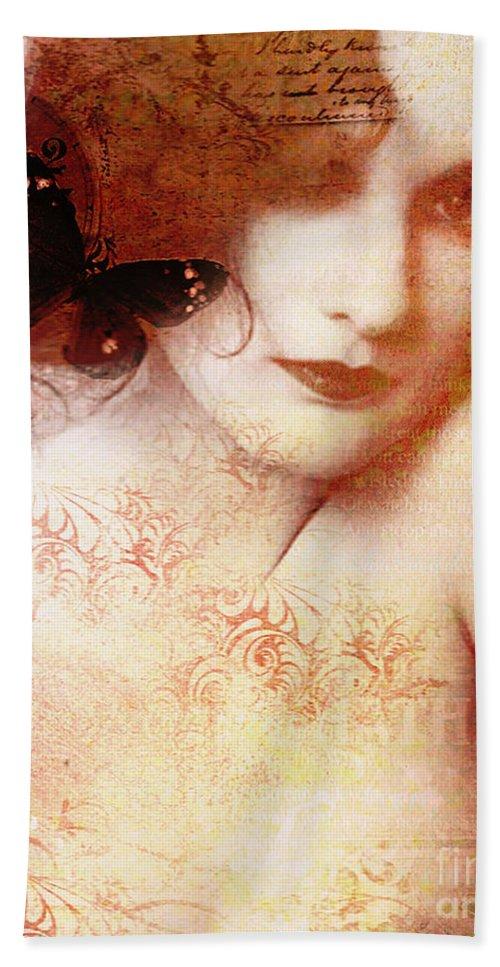 Nostalgic Seduction Bath Sheet featuring the photograph Winsom Women by Chris Andruskiewicz