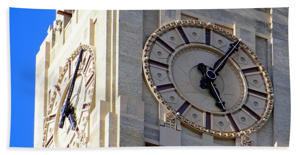 Clocks Hand Towel featuring the photograph 505 by Ed Weidman