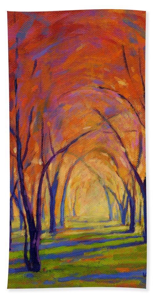 Fall Bath Sheet featuring the painting Colors Of Fall by Konnie Kim