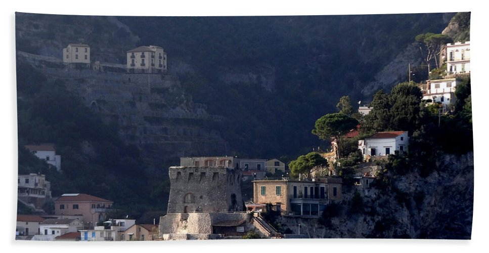 Amalfi Coast Bath Sheet featuring the photograph Views From The Amalfi Coast In Italy by Richard Rosenshein
