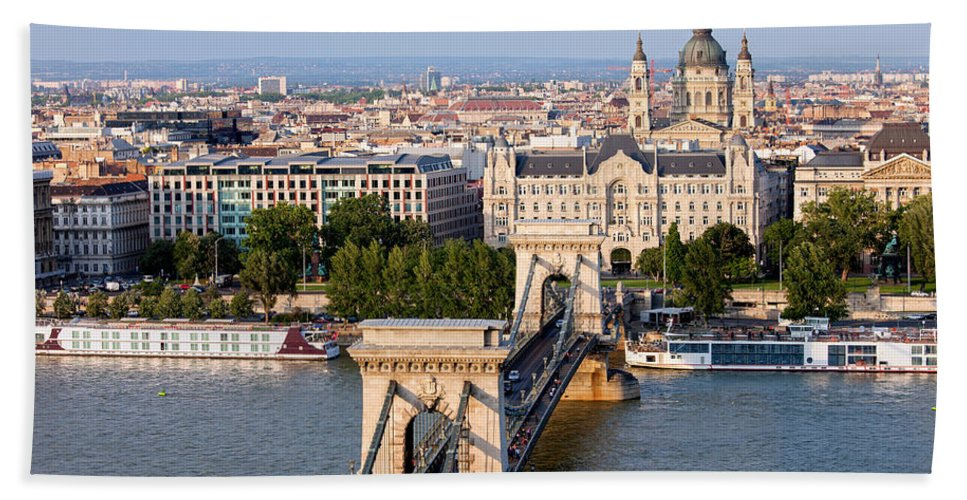 Budapest Bath Sheet featuring the photograph Budapest Cityscape by Artur Bogacki