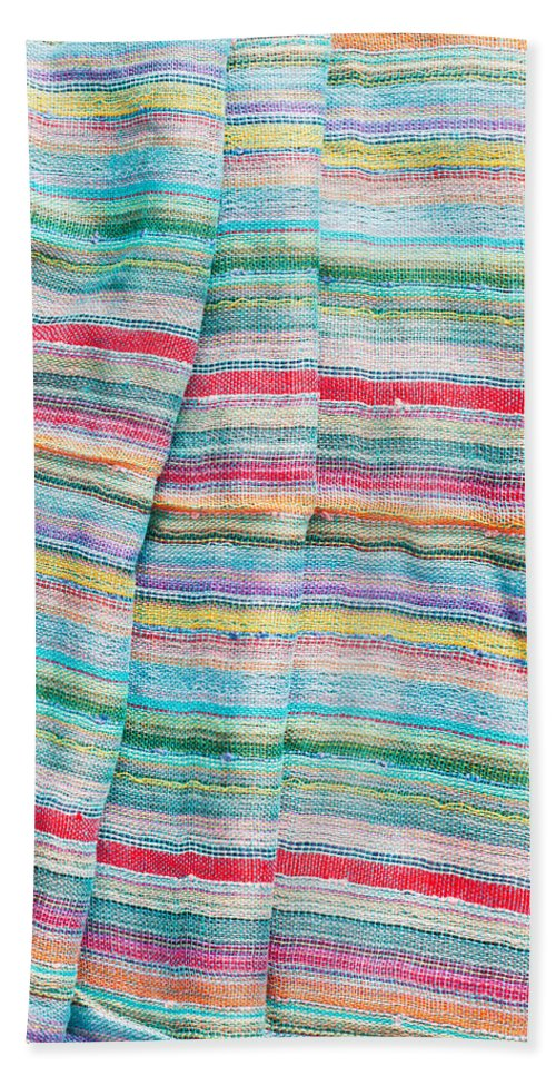 Backdrop Hand Towel featuring the photograph Colorful Cloth by Tom Gowanlock