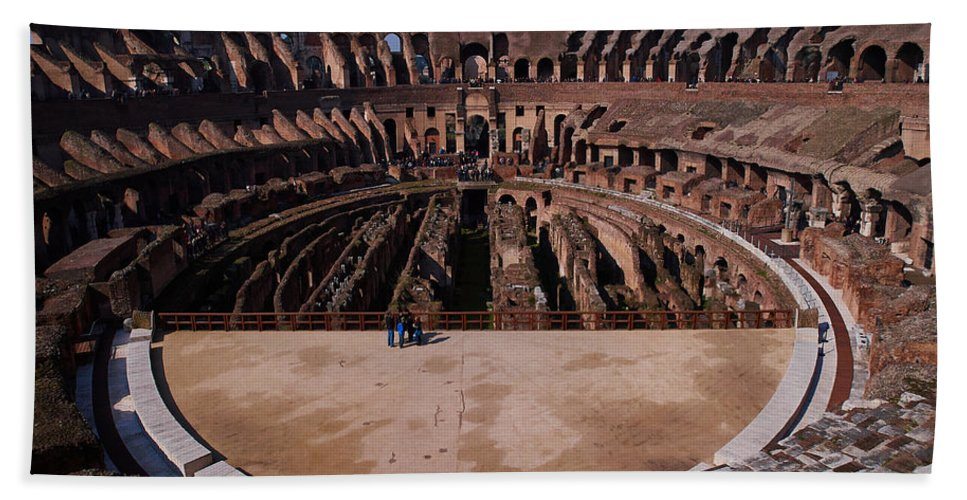 2013. Bath Sheet featuring the photograph Colosseum by Jouko Lehto