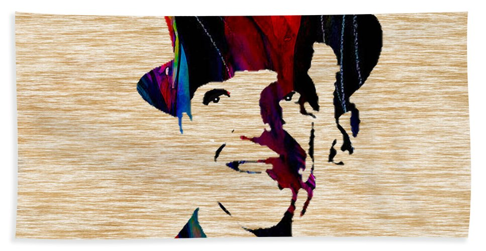 Fred Astaire Paintings Hand Towel featuring the mixed media Fred Astaire by Marvin Blaine