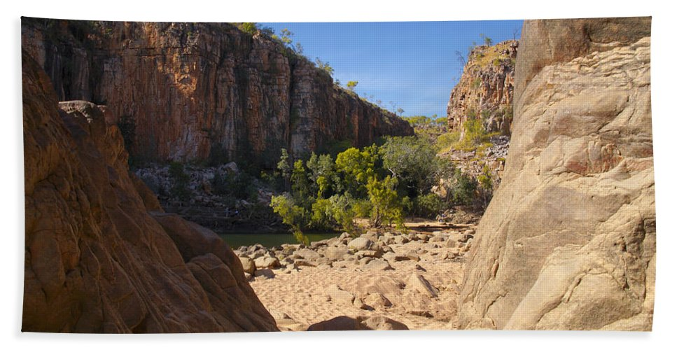 Australia Hand Towel featuring the digital art Katherine Gorge Landscapes by Carol Ailles
