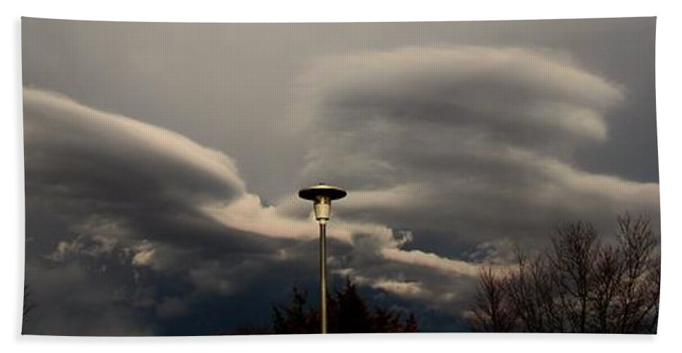 Stormscape Bath Sheet featuring the photograph Let The Storm Season Begin by NebraskaSC
