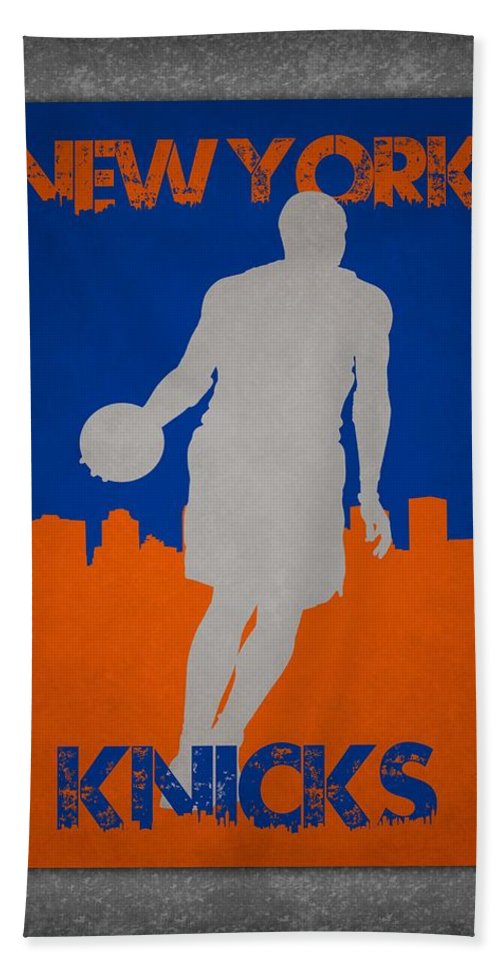 Knicks Bath Sheet featuring the photograph New York Knicks by Joe Hamilton