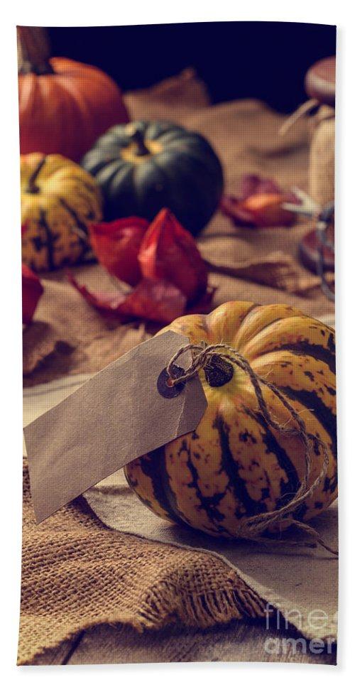Pumpkin Bath Sheet featuring the photograph Pumpkins by Amanda Elwell