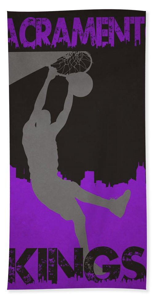 Kings Bath Sheet featuring the photograph Sacramento Kings by Joe Hamilton