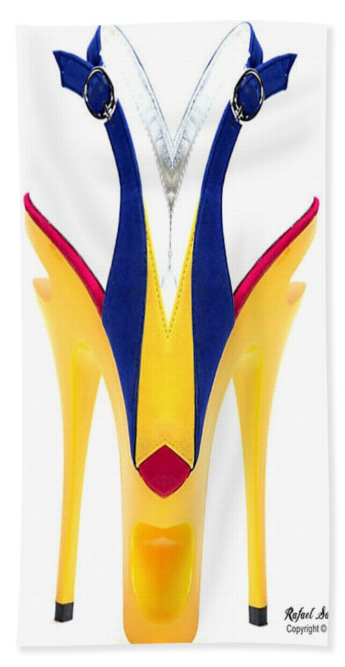 Conceptual Hand Towel featuring the digital art Shoe Love by Rafael Salazar