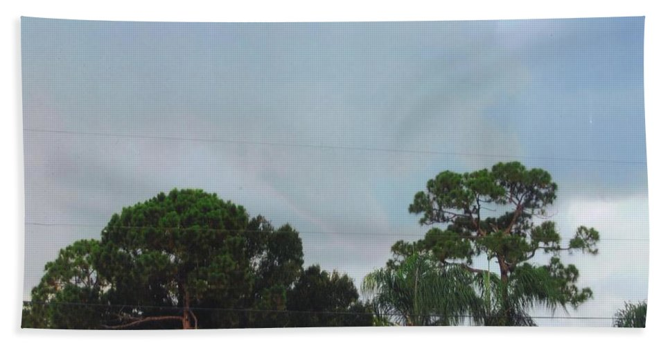 Tornado Forming Bath Sheet featuring the photograph Skyscape - Tornado Forming by Robert Floyd