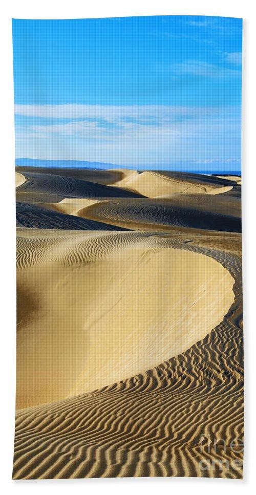 Sunrise At Oceano Sand Dunes Hand Towel featuring the photograph Sunrise At Oceano Sand Dunes by Yefim Bam