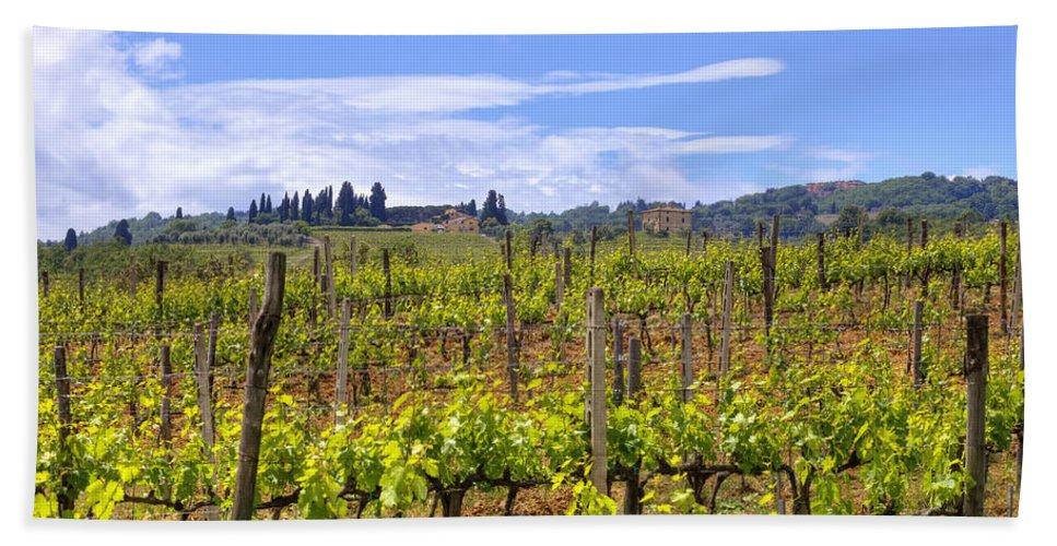 Montalcino Hand Towel featuring the photograph Tuscany - Montalcino by Joana Kruse