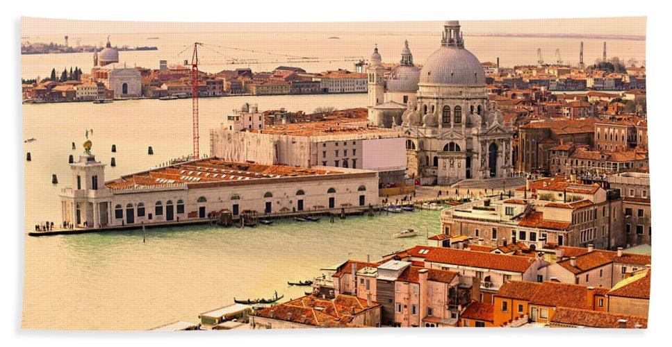 Balcony Bath Sheet featuring the photograph Venice by Luciano Mortula