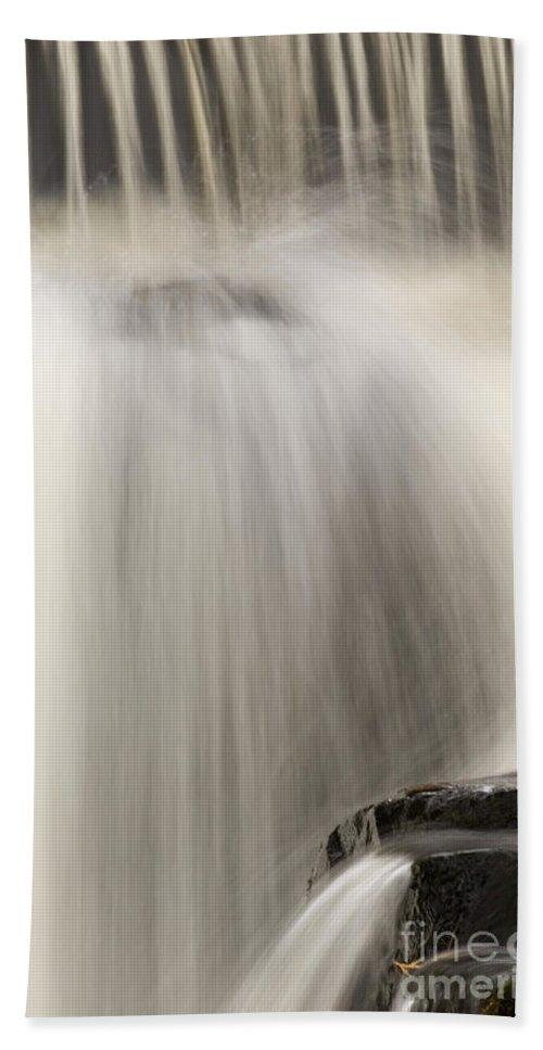 Bond Falls Bath Sheet featuring the photograph Waterfall by John Shaw