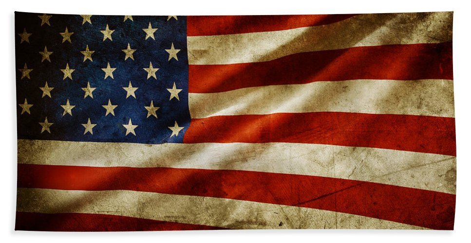 Flag Bath Sheet featuring the photograph American Flag by Les Cunliffe
