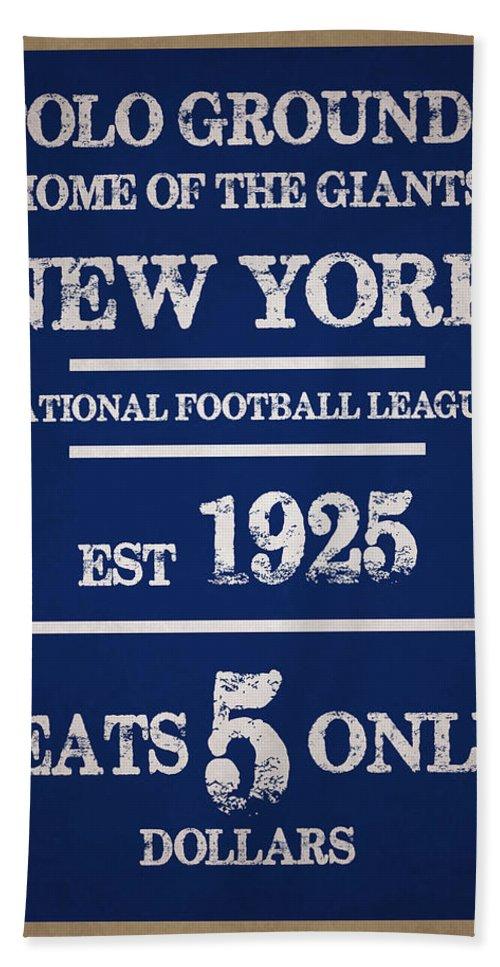 Giants Bath Sheet featuring the photograph New York Giants by Joe Hamilton