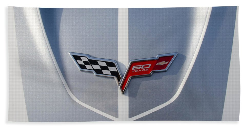 2013 Corvette Bath Sheet featuring the photograph 60 Years Old In Silver by Guy Whiteley