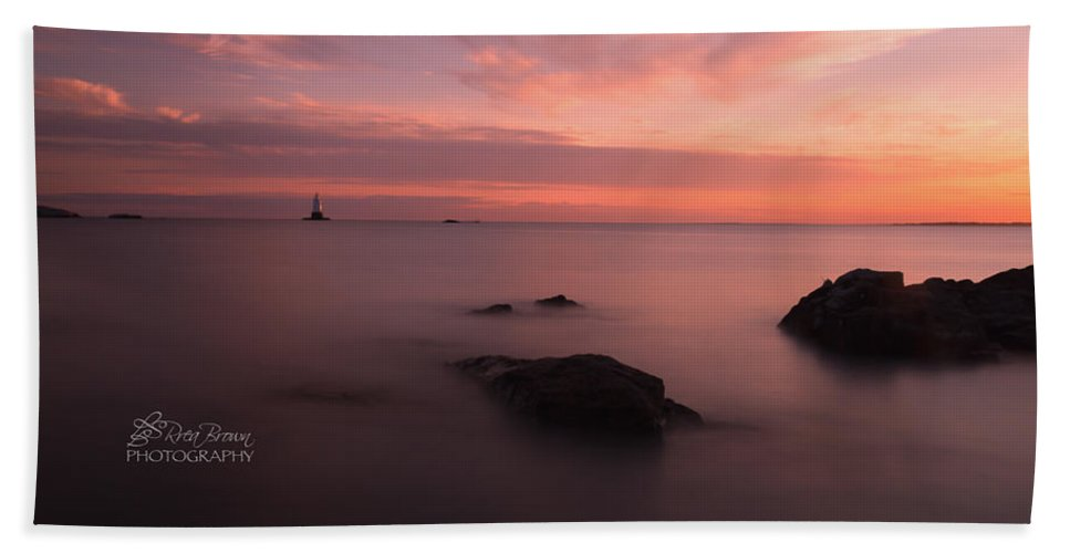 Seascape Bath Sheet featuring the photograph 62 by Rrea Brown