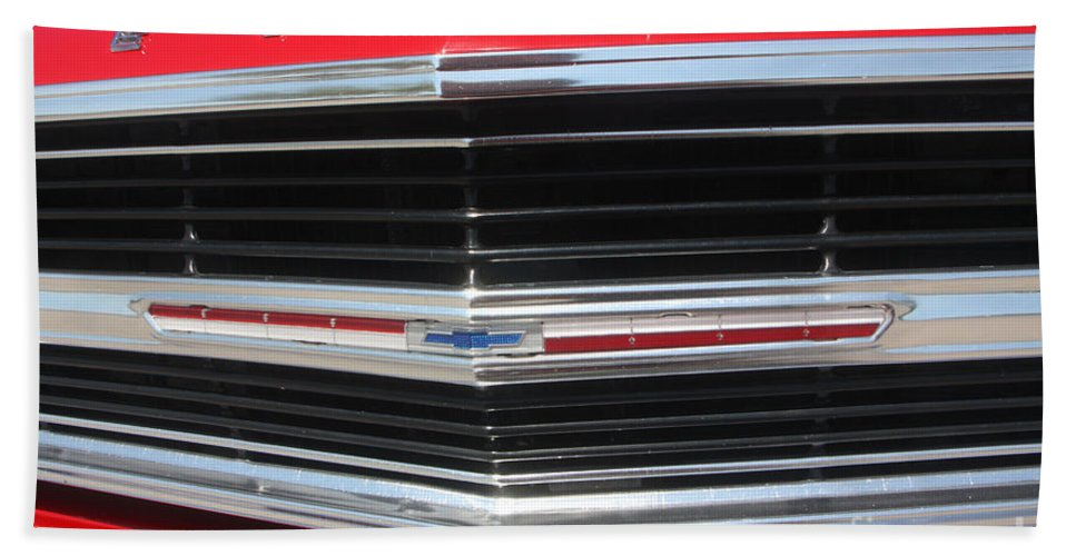 Chevrolet Bath Sheet featuring the photograph 65 Malibu Ss 7806 by Gary Gingrich Galleries