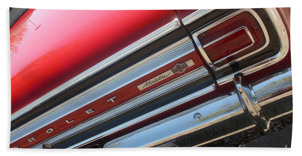 Chevrolet Bath Sheet featuring the photograph 65 Malibu Ss 7827 by Gary Gingrich Galleries