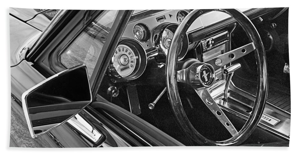 Ford Mustang Hand Towel featuring the photograph 67 Mustang Interior by Gill Billington