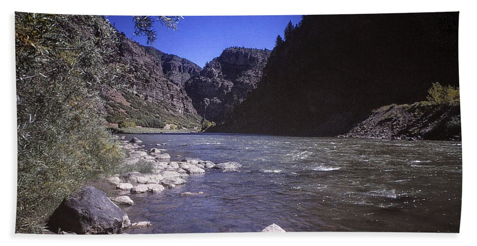 Print Hand Towel featuring the photograph 671 Sl Big River by Chris Berry