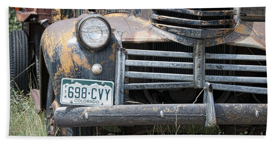 Chevrolet Hand Towel featuring the photograph 698 Cvy by David Arment