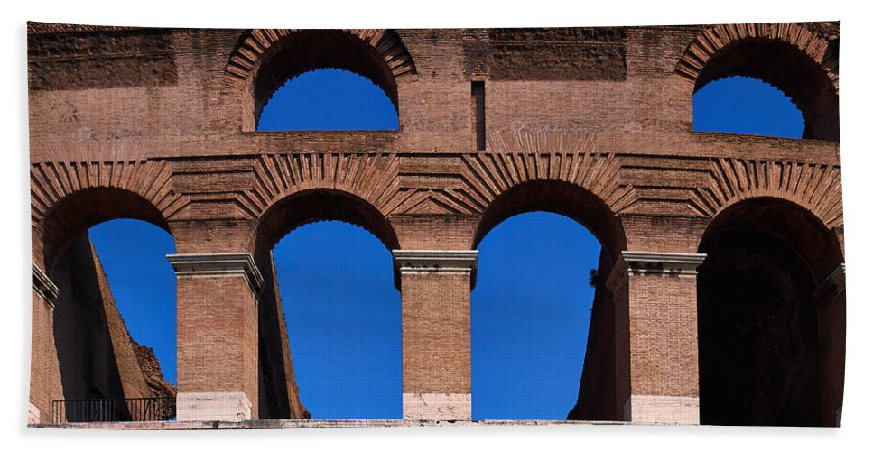 2013. Hand Towel featuring the photograph Colosseum by Jouko Lehto