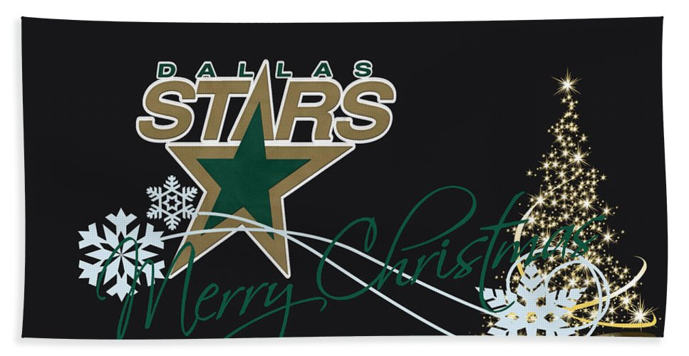Stars Bath Sheet featuring the photograph Dallas Stars by Joe Hamilton