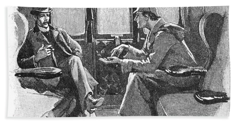 1892 Bath Sheet featuring the photograph Doyle: Sherlock Holmes by Granger
