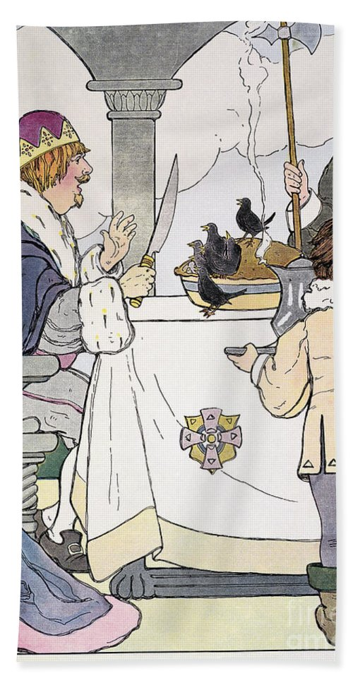 1916 Bath Sheet featuring the photograph Mother Goose, 1916 by Granger