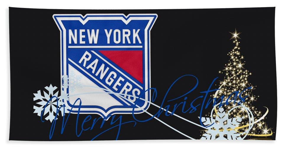 Rangers Bath Sheet featuring the photograph New York Rangers by Joe Hamilton
