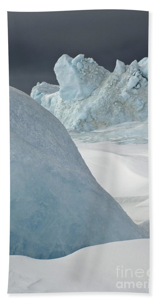 Pack Ice Hand Towel featuring the photograph Pack Ice, Antarctica by John Shaw