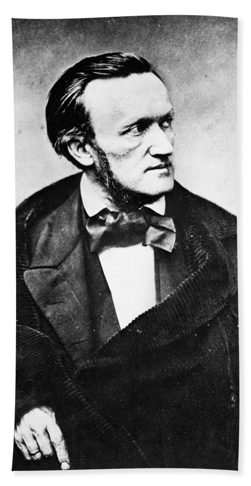 1860 Bath Sheet featuring the photograph Richard Wagner (1813-1883) by Granger