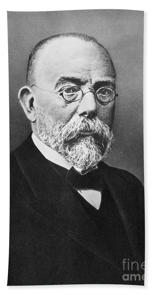 19th Century Bath Sheet featuring the photograph Robert Koch (1843-1910) by Granger