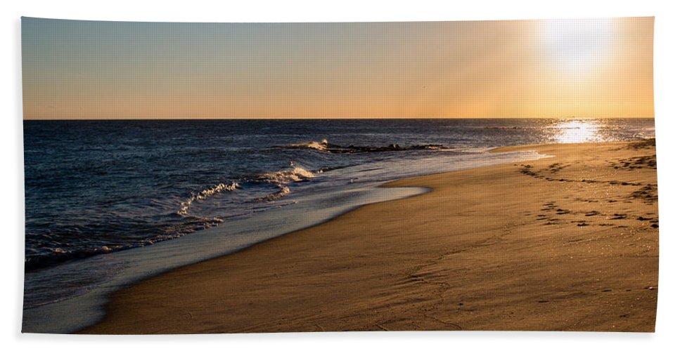 Beach Bath Sheet featuring the photograph Sunset On The Beach by Gaurav Singh