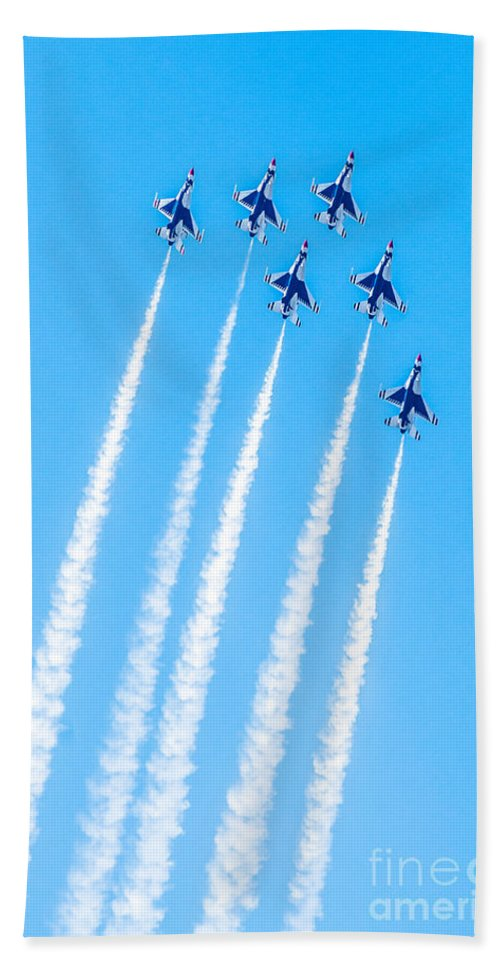 Thunderbirds Hand Towel featuring the photograph Thunderbirds In Formation by Amel Dizdarevic