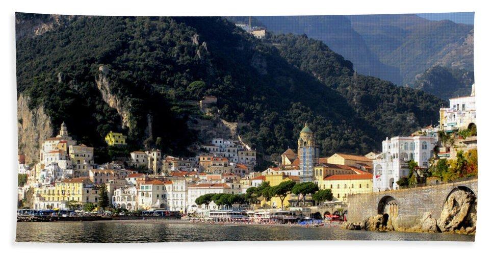 Amalfi Coast Bath Towel featuring the photograph Views From The Amalfi Coast In Italy by Richard Rosenshein