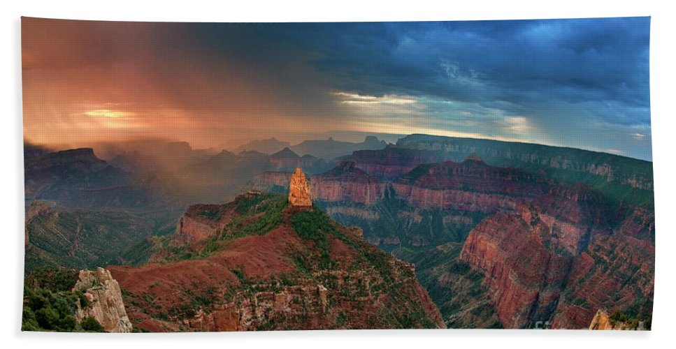 North America Hand Towel featuring the photograph 749220321 North Rim Grand Canyon Arizona by Dave Welling