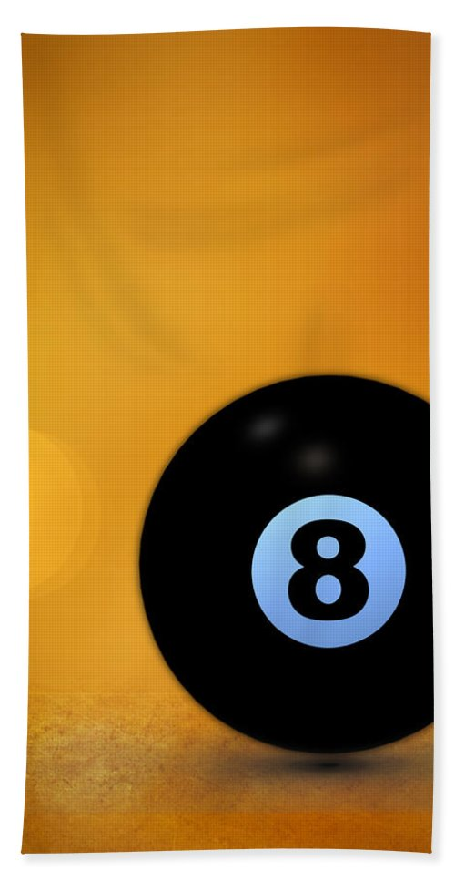 8 Ball Hand Towel featuring the photograph 8 Ball by Bob Orsillo