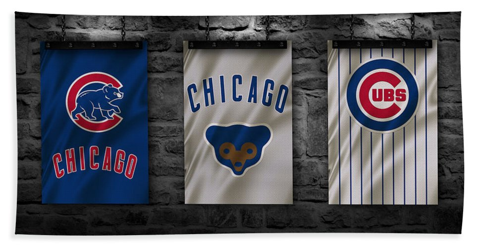 Cubs Bath Towel featuring the photograph Chicago Cubs by Joe Hamilton