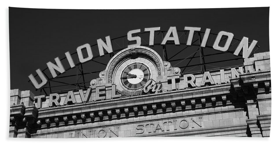 America Bath Sheet featuring the photograph Denver - Union Station by Frank Romeo