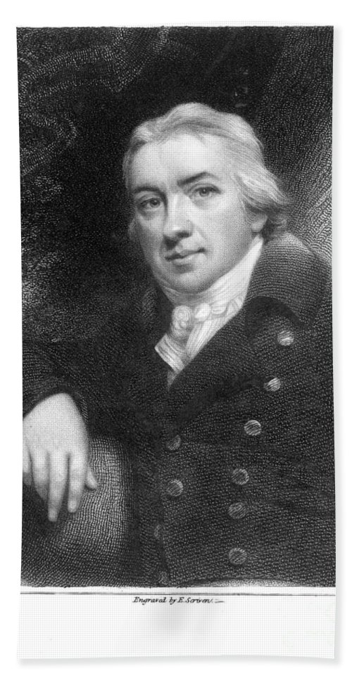 19th Century Hand Towel featuring the photograph Edward Jenner (1749-1823) by Granger