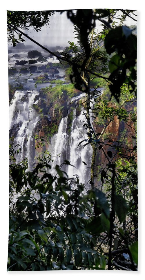 Iguazu Falls Hand Towel featuring the photograph Iguazu Falls - South America by Jon Berghoff