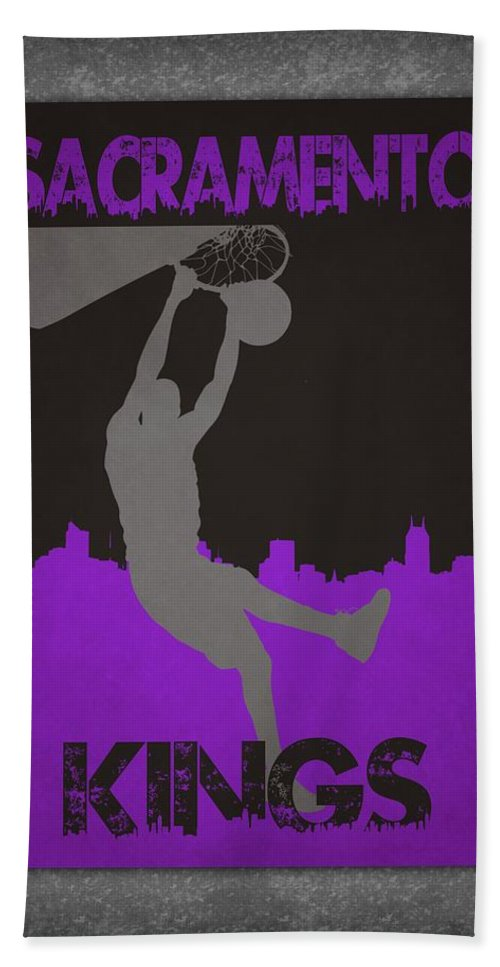 Kings Bath Sheet featuring the photograph Sacramento Kings by Joe Hamilton