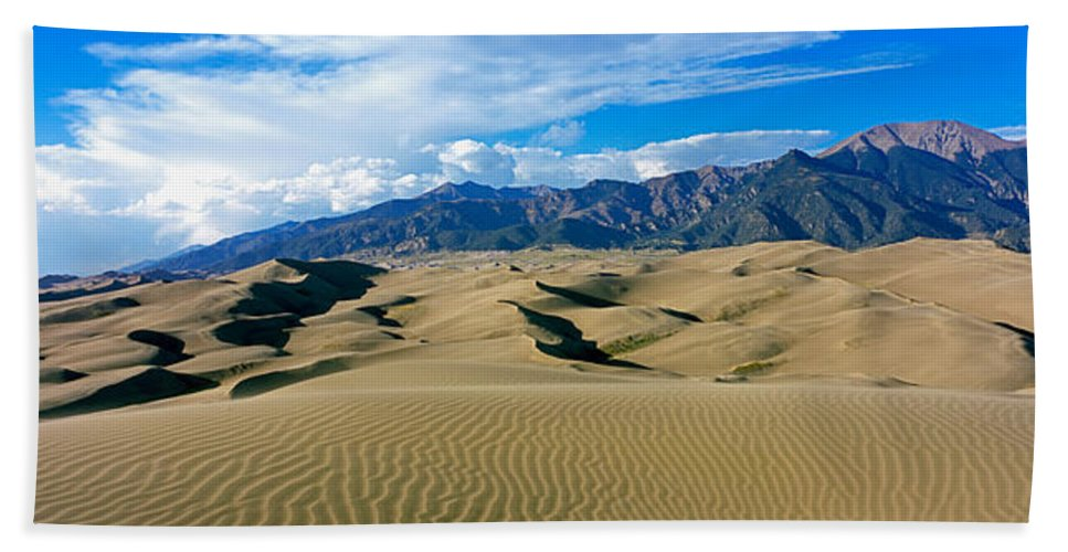Photography Hand Towel featuring the photograph Sand Dunes In A Desert, Great Sand by Panoramic Images