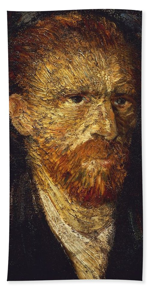 Painting; 19th Century Painting; Europe; Nederland; Holland; Van Gogh Vincent; Post-impressionism Hand Towel featuring the painting Self-portrait by Vincent van Gogh